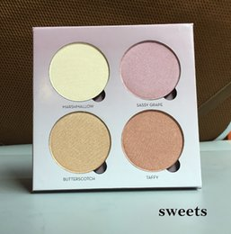 Wholesale Sun Glow Wholesale - DHL Free High quality Bronzers &Highlight Kit Makeup Face Powder Blusher Palette GLEAM THAT GLOW Sweets SUN DIPPED 4 Colors 660007