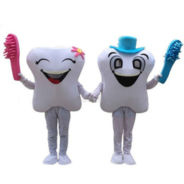 Wholesale Smiling Mascot - 2017 New Smiling Tooth Dentist Mascot Costume Adult Fancy Party Dress Free Ship
