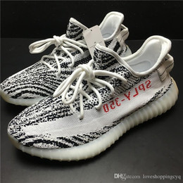 Wholesale Fall Fashion Collection - BOOST 350 V2 BLACK WHITE KANYE WEST MEN WOMEN RUNNING OUTDOOR SNEAKERS FASHION SHOES TRUE BOOST WITH HEELS LIMITED COLLECTION