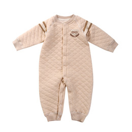 Wholesale Male Clip - 2017 new arrival top quality children's clothing baby rompers winter clip cotton warm long-sleeved climbing male baby conjoined clothing