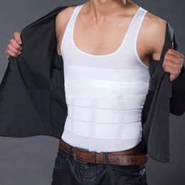 Wholesale Best Body Slimmers - Wholesale-2pcs Hot Undergarments Sale Best Body Shaper Girdles Gynecomastia Brand BodyShaper Extra Firm Shapewear Slimming Hot Vest