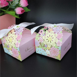 Wholesale Nice Events - Wedding Candy Box colorful 100pcs lot Nice Party Wedding Baby Shower Favor Paper Gift Boxes Event & Party Supplies