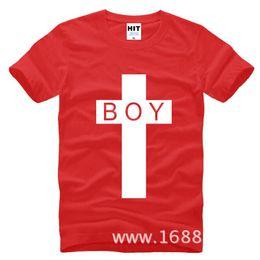 Wholesale London Boy T - WISHCART Tide brand BOY LONDON cross bigbang Mens Men T Shirt Tshirt Fashion 2016 New Short Sleeve Cotton T-shirt Tee Camisetas Hombre