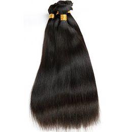 Wholesale Human Hair For Braids - Unprocessed Brazilian Virgin Hair Straight Bulk Hair For Braiding 3Pcs Human Braiding Hair Bulk No Weft Natural Color Indian Peruvian