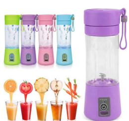 Wholesale Juicer Machines - new USB Electric Fruit Juicer Bottles mini 380ML Portable Handheld Smoothie Maker Blender Bottle Juice Cup Juicer Blender