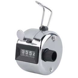Wholesale Golf Counters - Digital Chrome Hand Tally Clicker Counter Metal Machanical 4 Digit Number Clicker Golf Digital Chrome Hand Tally Count