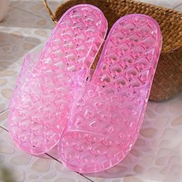 Wholesale Wholesale Crystal Fashion Sandals - Rihanna Jelly Crystal Slipper Shoes Women Slippers Indoor Sandals Girls Fashion Bathroom Non-slip Slippers Beach Sandals