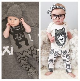 Wholesale Wholesale Baby Clothings - 2016 Cute Baby Girls Boys Summer Outfits Infant Cartoon Set Toddler Clothings Sets Suits Wholesale Clothing