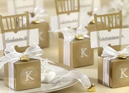 Wholesale Silver Chair Wedding Favor - Wedding Candies Boxes Chair Shape Gold Silver Cheap New Creative Candies Paper Boxes Wedding Accessories Candies Boxes