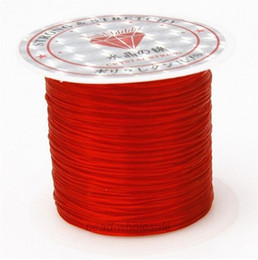 Wholesale Elastic Rubber Cords - 1Roll Strong Stretchy Elastic String Thread Knotting Rubber Cords Beading String for Shamballa Bracelets DIY