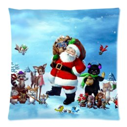 Wholesale Personalized Gifts For Friends - Christmas Snowman Personalized Pillow Case 18X 18Inches (One Side )Cushion Cover Case Perfect Christmas Gift For Friend