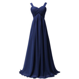 Wholesale Burgundy Pleated Skirt - Cheap Bridesmaid Dresses Under 100 With Straps Sexy Plus Size Chiffon Long Prom Dresses Bridesmaid Maxi Skirt Evening Party Gowns