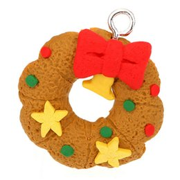 Wholesale Clay Ornaments Wholesale - 6pcs set Free shipping Christmas Tree Hanging Accessories Polymer Clay Pendants Christmas Ornament Free Shipping WA1021