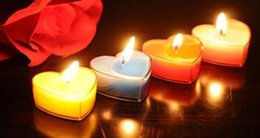 Wholesale Paraffin Tea Light Candles - Heart Shaped Scented Candles In Tea Lights Floating Candle Scent Tea Lights Aromatherapy Relax Light For Wedding Decorations