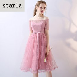 Wholesale Korean Lace Prom Dresses - 2017 new autumn bridesmaid dresses in Korean edition of Korean version of the girl dress