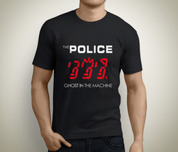 Wholesale Tee Shirt Machines - New The Police Ghost In The Machine Rock Band Men's Black T-Shirt Size S To 3XL T Shirt Fashion Top Tee