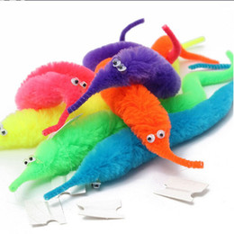 Wholesale Plush Stuffed Worms - Magic tricks Twisty Worm for Magicians Baralho Mr.fuzzy Magica Wiggle Magic Worm Twisty Plush Wiggle Stuffed Animals toys