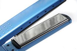 "Wholesale Hair Straightener Titanium Plates - 1 1 4"" Plates Titanium Hair Straightener Straightening Irons Flat Iron US EU Plug DHL Free"