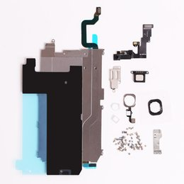Wholesale Iphone Display Home Button - Front Camera Earpiece Speaker Plate home button flex cable For iphone 6 Full LCD Display Repair Parts