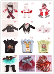 Wholesale Clothing Dolls - DHL UPS Fedex TNT Plush Doll Clothes 12 Styles Tuxedo suit scarf & skates 40pcs doll clothing setl skirts & boots clothes Free shipping