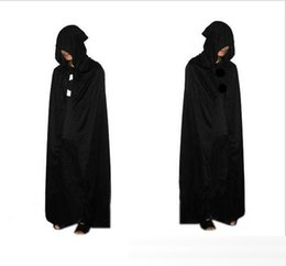 Wholesale witch costume adult xl - DHL Halloween Adult and kids Sorcerer Wizard Cosplay Costume Hooded Cloak Witch Grim Reaper Cosplay Costume Robe Cape 135cm 165cm E1098