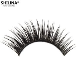 Wholesale Shilina Eyelashes - Wholesale-SHILINA 3021 Natural False Eyelashes Black Fake Eyelashes 1 Pair False Eyelashes Long Eyelash Eye Lashes Extension Band Makeup