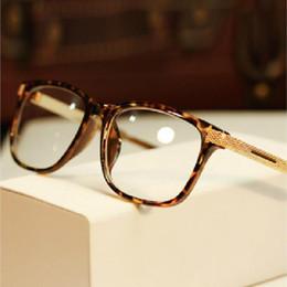 Wholesale Black Eye Eyeglasses - women eyeglasses myopia retro vintage optical glasses frame brand design square plain eye glasses oculos de grau femininos