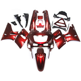 Wholesale Zzr Cowling - Fairings For Kawasaki ZZR400 ZZR-400 ZZR600 93 94 95 96 97 07 1993 - 2007 ABS Motorcycle Full Fairing Kits Red Pearl Cowlings