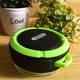 Wholesale Center Cup - Outdoor wireless Speaker C6 Sports Portable Waterproof Bluetooth Speaker Suction Cup Handsfree MIC Voice Box DHL Free