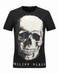 Wholesale Tshirts For Boys - Slim t-shirts for men 3D Printing Large Skulls & Diamonds tshirts sweatshirt Short Sleeve Tops Boys Tee Shirts Mens Clothing 18260