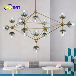 Wholesale modo chandelier - FUMAT Nordic Magic Beans Designer Modo Chandelier Milky Glass Dining Room Cafe   Bar Lights E27 Light Fixtures With LED Bulbs