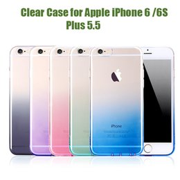 Wholesale Changeable Case - Changeable colors Luxury Fashionable Cell Phone Cases Crystal Clear Case for Apple iPhone 6  6S  Plus 5.5 Soft TPU Gel Cover