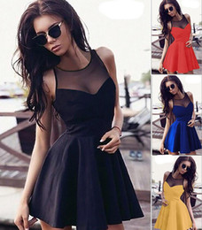 Wholesale Sexy Cute Black Girl - 2016 new love girl fashion women strap hot sexy cute sweetheart puff mini fashion evening party bandage dress