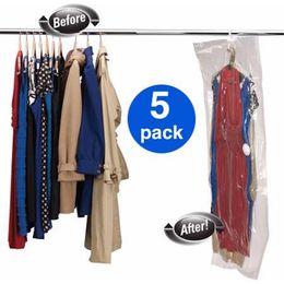 Wholesale Pc Vaccum - Wholesale- Hanger vacuum bag, 5 pcs |90*60, 110*60, 105*70, 145*70 | Vacuum bag with hanger | hanging vacuum storage bag | space saving bag
