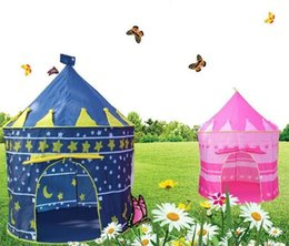 Wholesale Kids Play Teepee - Prince and Princess Teepee Kids Play Tents Children Playing Indoor Outdoor Toy Tent Game House Two Colors