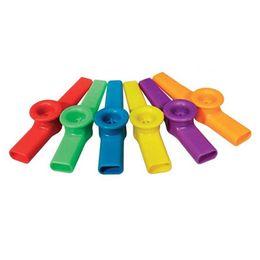 Canada Remise En Plastique Bouche Bouche Flûte Kazoo Instrument pour Enfants Party Cadeau Musique Amants Mixte Couleur Kid Instruments de Musique Offre