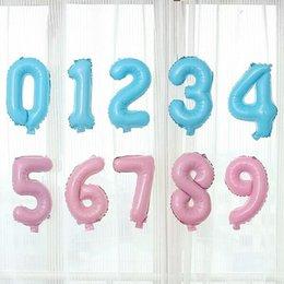 Wholesale Foil Banner - 16 inch Number 0-9 Foil Balloons Pink Blue Digit helium Balloon Kids Birthday Party Banner Wedding Decor Ballon