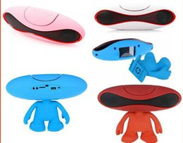 Wholesale Best Portable Music Stand - Bluetooth Speaker cartoon Alien brand Best Pill Bluetooth Speaker portable Mini Wireless Rugby music speaker with stand holder dude OM-XL3