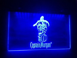 Wholesale Neon Bar Sign Captain Morgan - b-17 Captain Morgan Spiced Rum Bar NR LED Neon Light Sign Cheap signings hotline