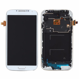 Wholesale S4 Panel - For Samsung Galaxy S4 gt-i9500 i9500 i9505 i337 LCD Display with frame