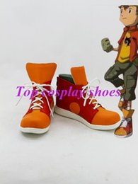 Wholesale Digimon Cosplay - Wholesale-Freeshipping custom-made anime Digimon Adventure Takuya Kanbara Cosplay Boots shoes for Halloween Christmas festival