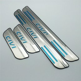 Wholesale Honda Door Sill - door sill Guards Sills Stainless steel scuff plate For Honda Civic 2016 2017