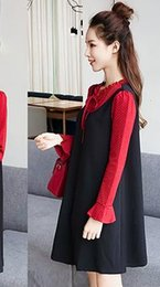 Wholesale Dot Funding - Paragraphs maternity autumn coat vogue of new fund of 2017 autumn winter autumn han edition long-sleeved fall pregnant women dress
