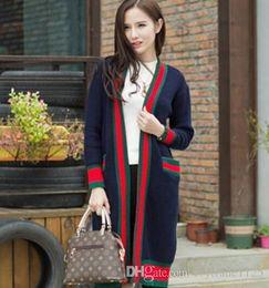 Wholesale Cardigan Match - New Fashion Women Long cardigan Sweater long sleeve Autumn Winter women's long cardigan all match Sweater free ship