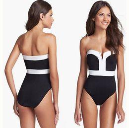 Wholesale Top Hottest Bikini - 2016 Lady Sexy Swimwear boob Tube Top Bikini One-Pieces Swimsuit Hot Selling Fashion Drop Shipping