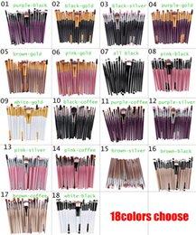 Wholesale Brand Make Up Set Wholesale - 20Pc set Cosmetic Makeup Brushes Set Powder Foundation Eyeshadow Eyeliner Lip Brush Tool Brand Make Up Brushes beauty tools pincel maquiagem