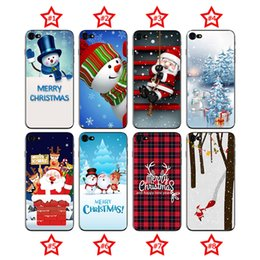 Wholesale Bags Carton - TPU Painting Christmas Phone Case for Samsung Huawei Back Covers Shell Cell phone Carton Cases Covers for iphone X 8 7 6 6s 5 5s SE OPP Bag
