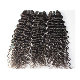 Wholesale deep wave perm - Deep wave Weaves 8A Top Quality Human Hair Extensions Peruvian Malaysian Indian Cambodian Brazilian Hair Fastest Delivery Shedding Free