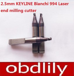 Wholesale Laser Cutting Machines - 2pcs lot 3 Tooth Key Cutter WC011A 2.5mm Carbide End Milling Cutter RIC05304B For KEYLINE Bianchi 994 Laser Key Cutting Machines