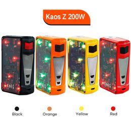 Caja sigelei online-Auténtico Sigelei Spectrum Kaos Z 200W Mod. Modificado LED Light Box Mod 4 colores E cigarrillo Vape Mod 100% original
